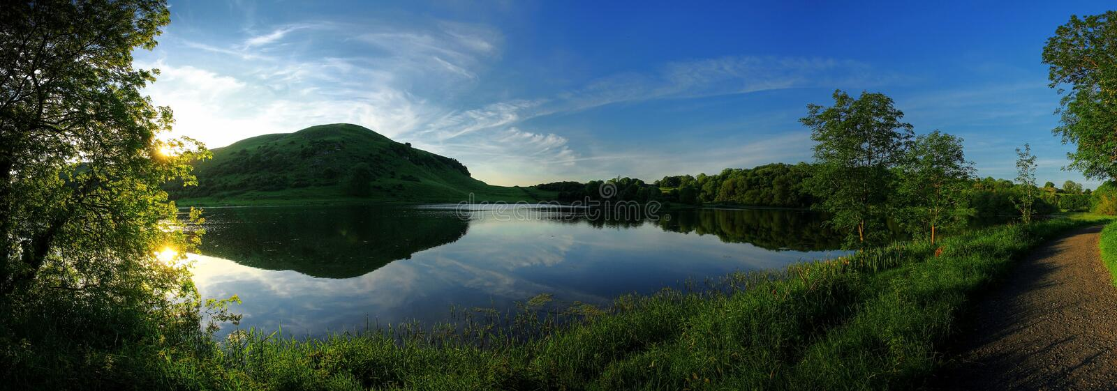 Download Lake panoramic stock image. Image of waterscape, forest - 12349501