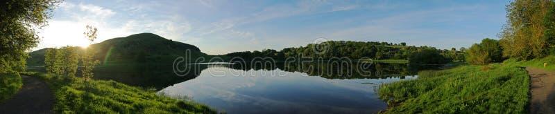 Lake panoramic royalty free stock photo