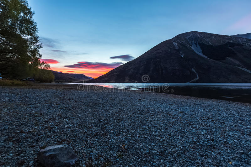 Lake Pearson Arthur's pass National Park, New Zealand royalty free stock photography