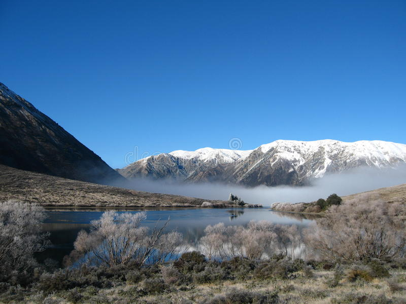 Lake Pearson, New Zealand royalty free stock image