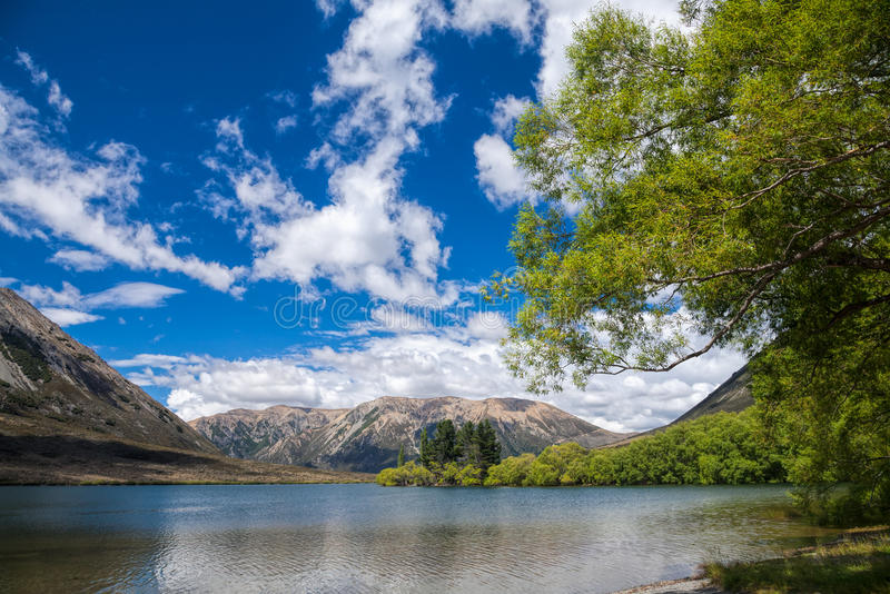 Lake Pearson in New Zealand royalty free stock images