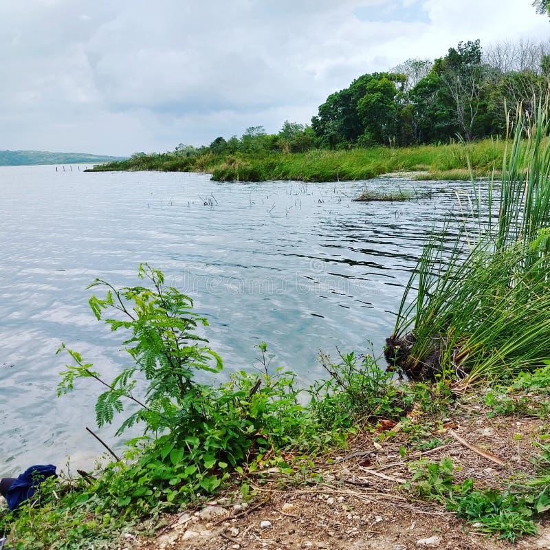 Lake Petén Itzá stock photography