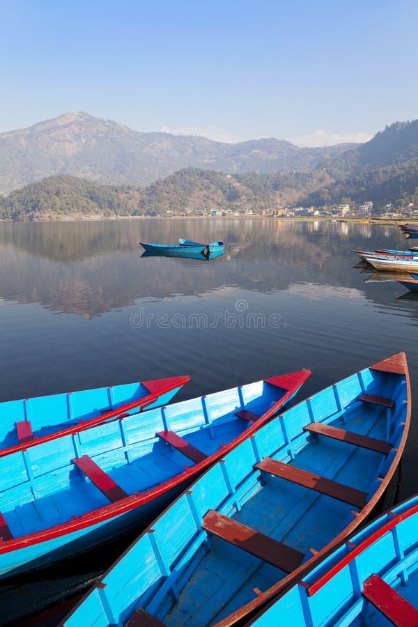 Download Lake Phewa, Pokhara, Nepal stock image. Image of colourful - 12576235