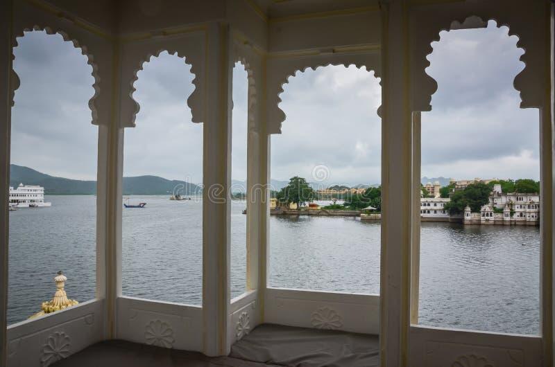 Lake Pichola Seen Through Indian Window royalty free stock photo