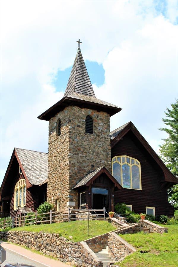 Lake Placid. Church at Lake Placid, New York village royalty free stock photos