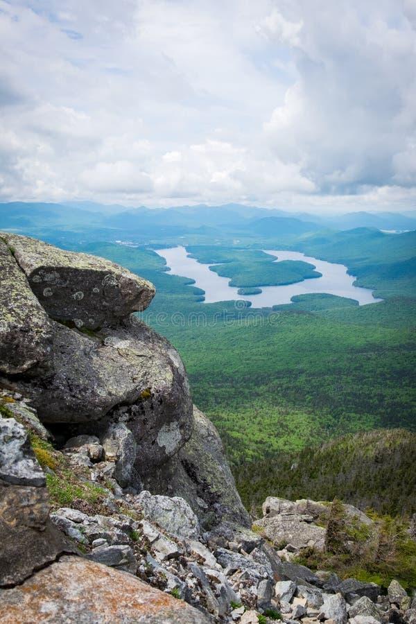 Lake Placid du sommet de la montagne de Whiteface photo stock