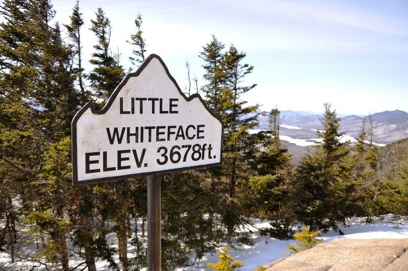 Lake Placid en Weinig Berg Whiteface stock fotografie