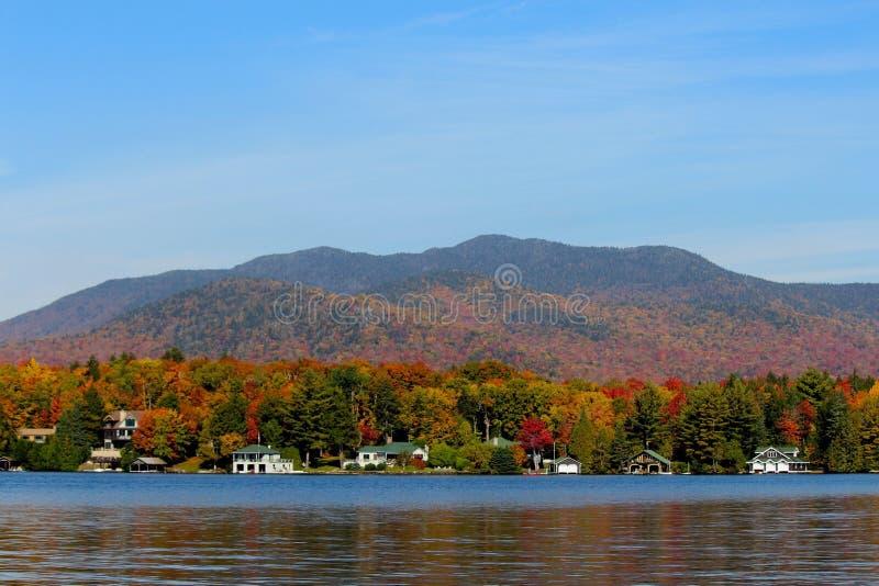 Lake Placid New York. Lake Placid during fall foliage royalty free stock photo