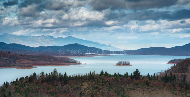 Lake Plastiras, Thessaly, Greece royalty free stock photo