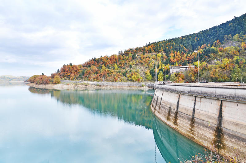Lake Plastiras Thessaly Greece royalty free stock images