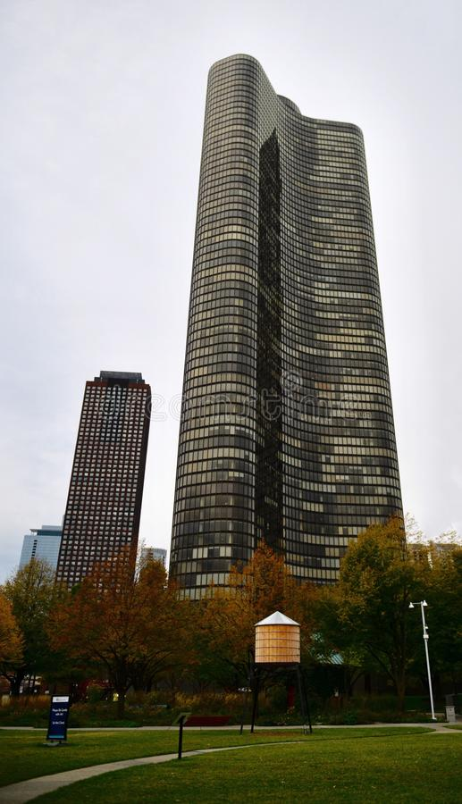 Lake Point Tower Condominiums stock photography