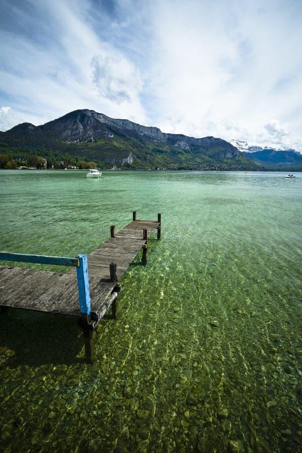 Lake pontoon stock image