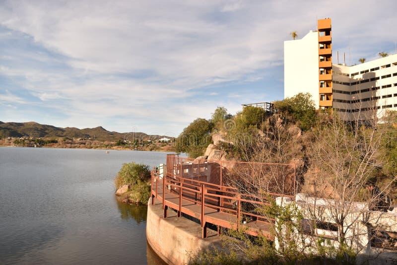 Lake Potrero de los Funes, San Luis, Argentina stock images
