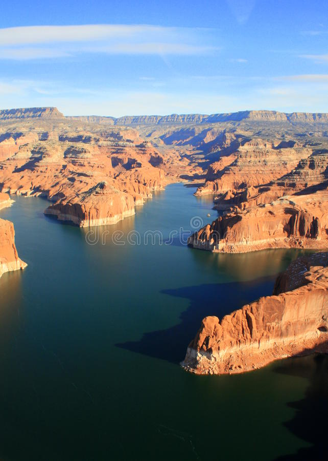 Lake Powell from the air stock photos