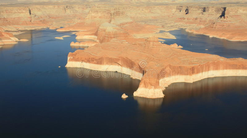 Lake Powell from the air royalty free stock photos
