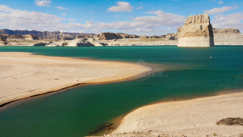 Lake Powell, Arizona, United States. The Lake Powell in desert landscape, Arizona. United States stock photos