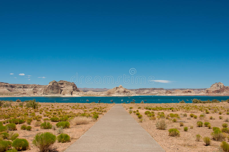 Lake Powell in Arizona, USA royalty free stock photos