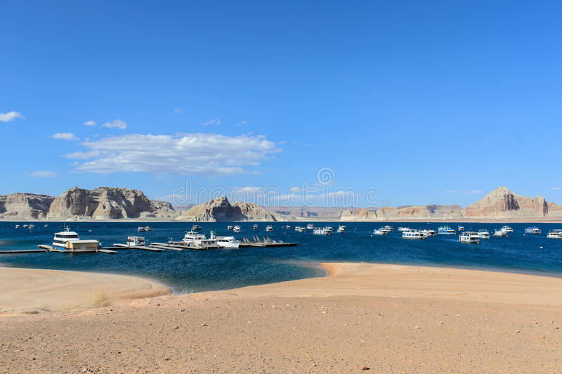Lake Powell in the Desert of Arizona,United States. THe Lake Powell in the Desert of Arizona,United States royalty free stock photos
