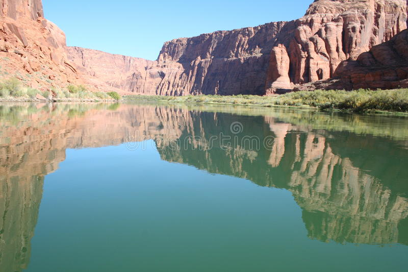 Lake Powell Reflections stock photography