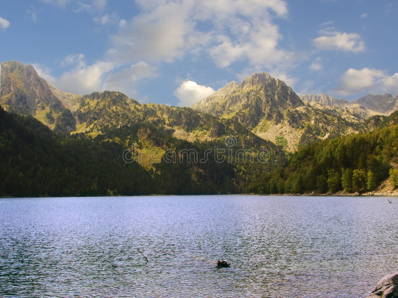 Lake in Pyrenees royalty free stock images