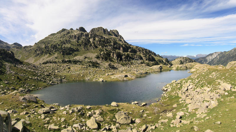 Download Lake in the Pyrenees stock image. Image of cirrus, hiking - 25769175