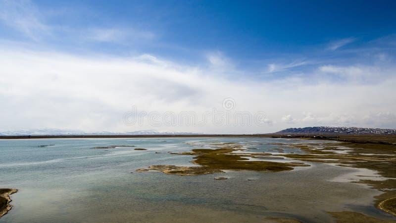 lake qinghai royaltyfria foton