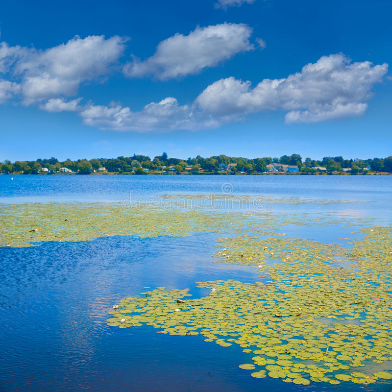 Lake Quannapowitt in Wakefield near Boston. Massachusetts stock photo