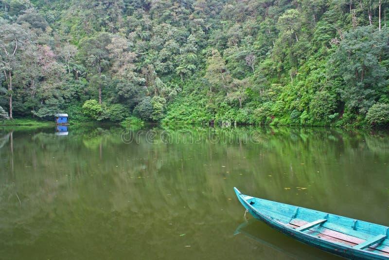boat at green lake stock photography