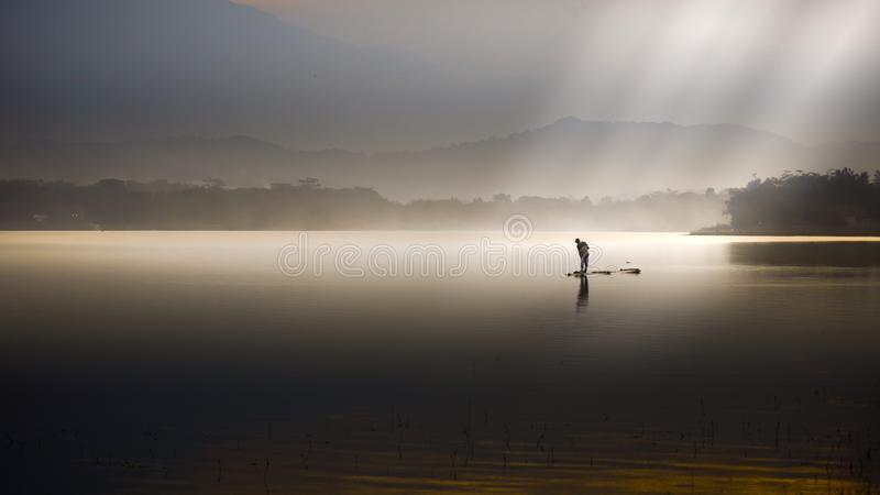 Download Lake with Ray of light stock image. Image of heaven - 110640017