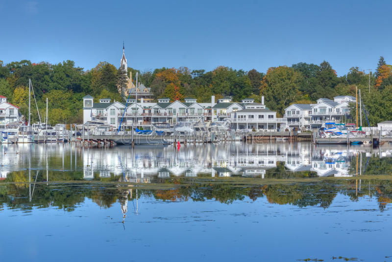 Download Lake Reflection stock image. Image of marina, trees, city - 21600129