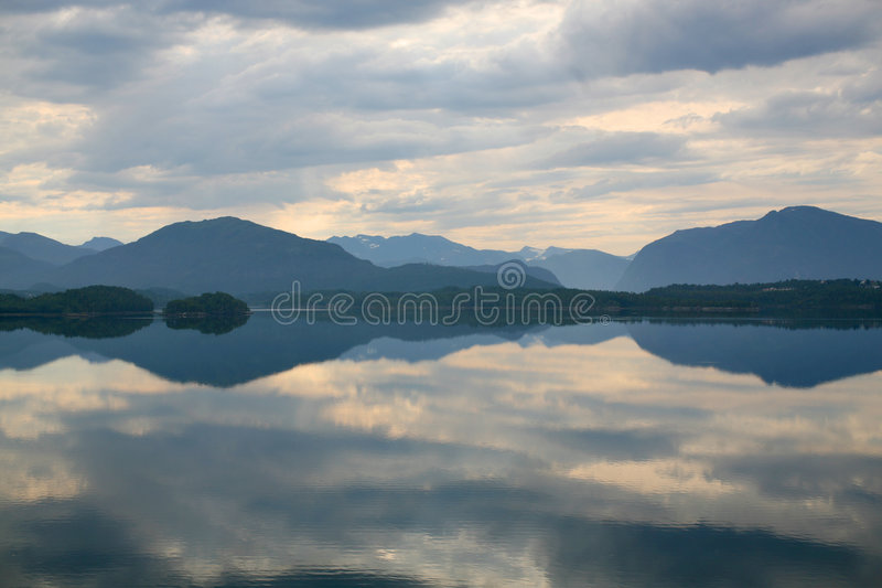 Download Lake With A Reflection Of The Clouds Stock Photo - Image: 6142534