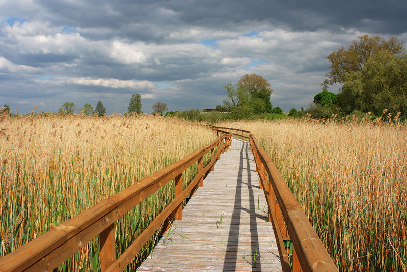 Lake Reservation Path stock photography