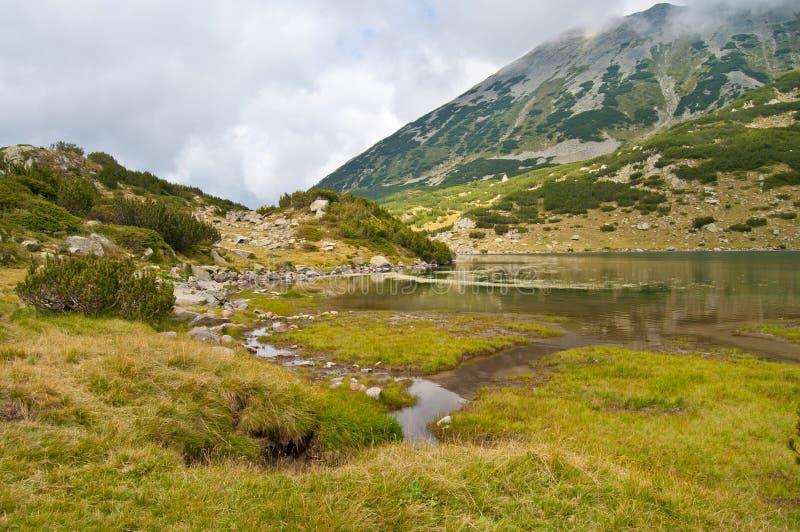 Lake Ribno on Pirin Mountain royalty free stock photography