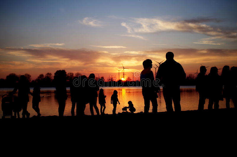 Lake of the rising sun royalty free stock image