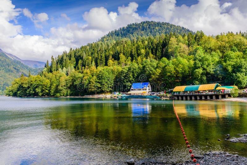 Lake Ritsa stock photo