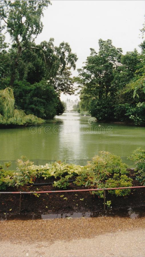 Lake in Saint James Park stock photo