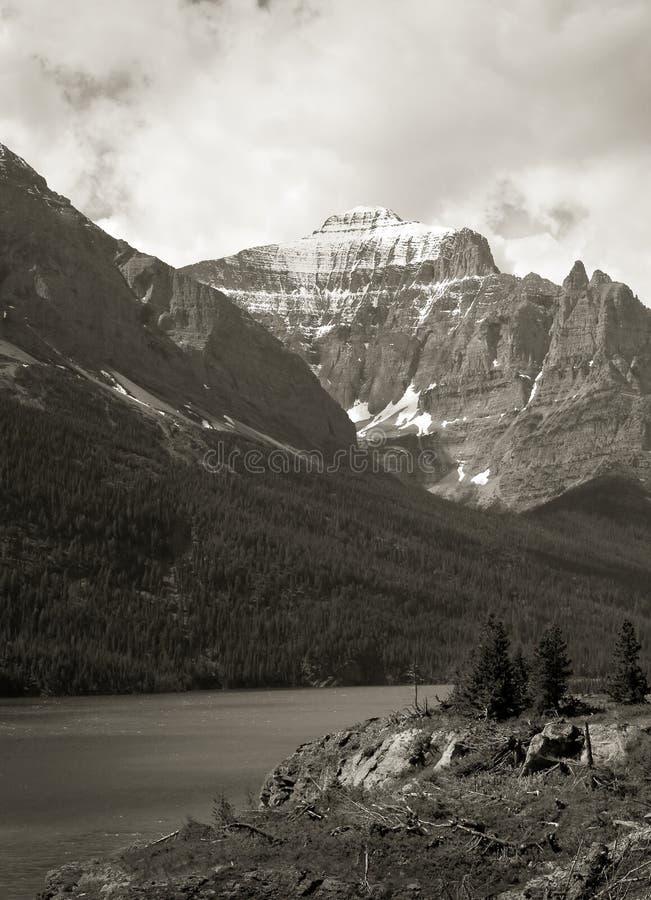 Lake Saint Mary, Glacier National Park stock image