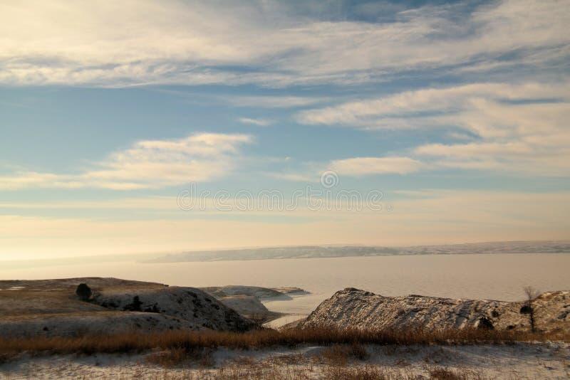 Lake sakakawea north dakota royalty free stock photography