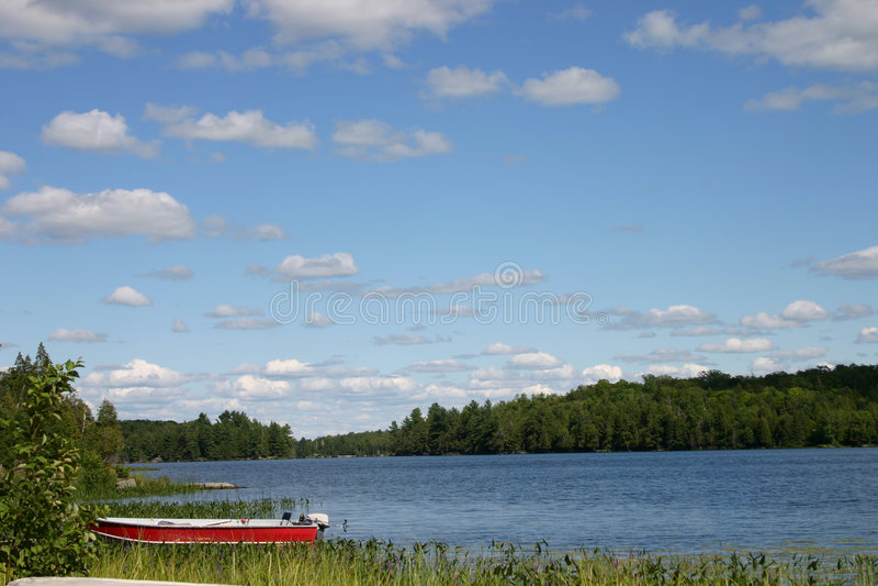 Lake scene stock photo