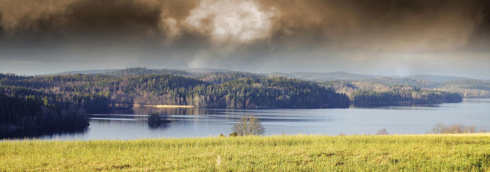Lake Scenery And Landscape Stock Photography