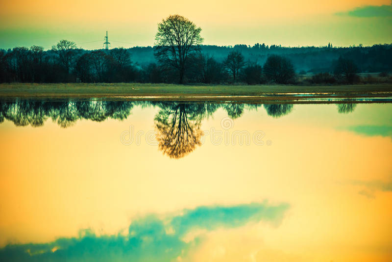 Lake scenery royalty free stock photos