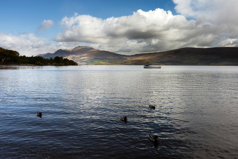 Download Lake in Scotland stock photo. Image of clouds, mountains - 27532016