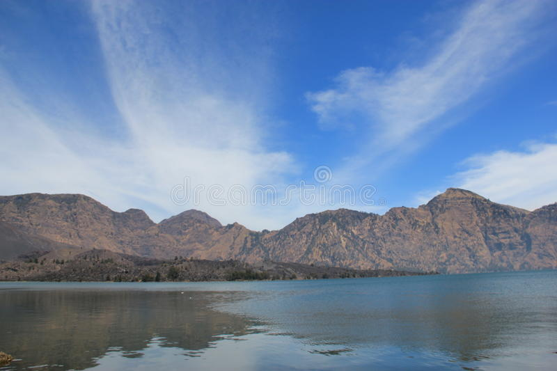 Lake Segara Anak, Mt. Rinjani,Lombok stock photography