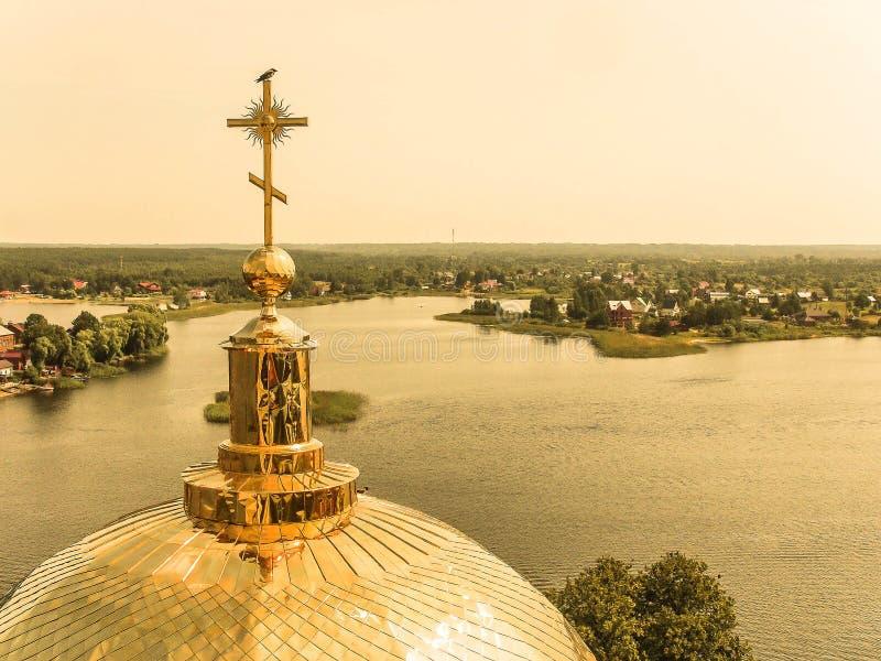 Lake Seliger royaltyfri foto