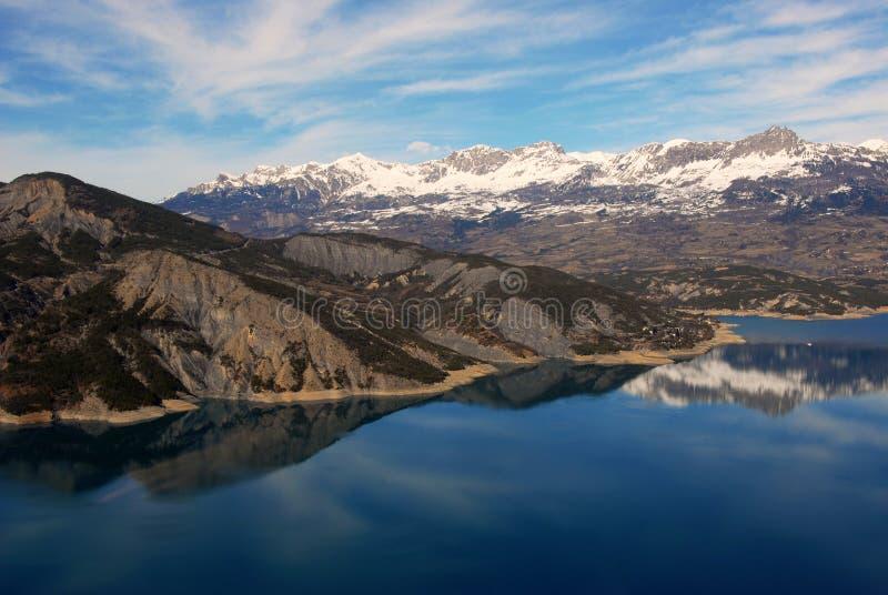 Lake Serre-Poncon royalty free stock photo