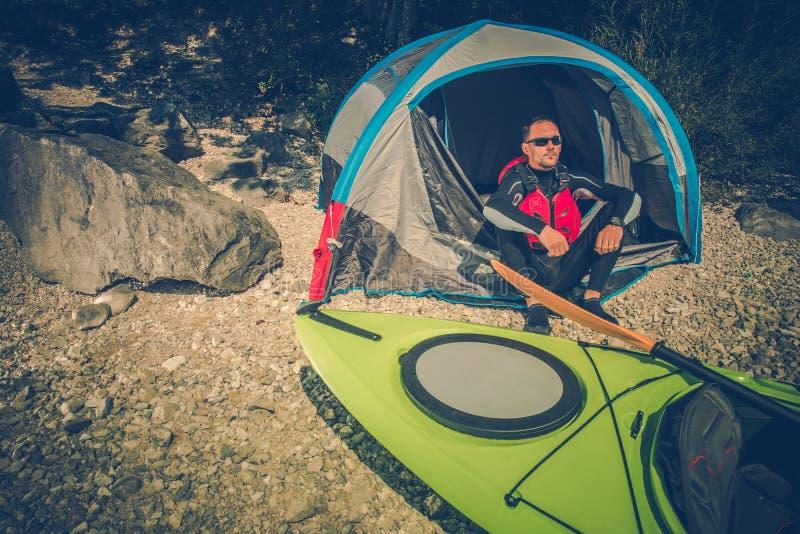 Lake Shore Camping Place stock photo