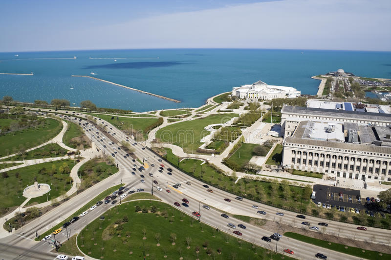 Lake Shore Drive. In Chicago stock image