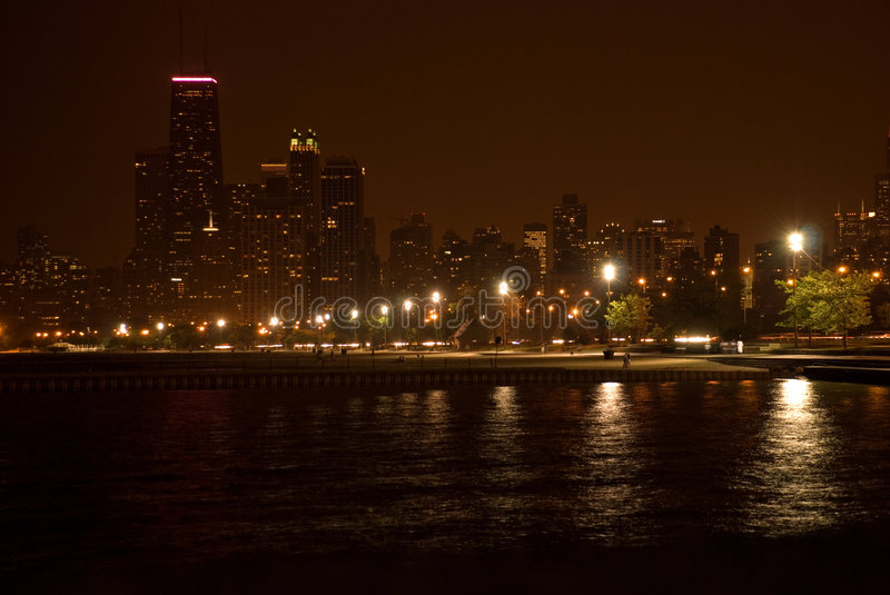Download Lake shore drive stock image. Image of chicago, city, night - 2672887