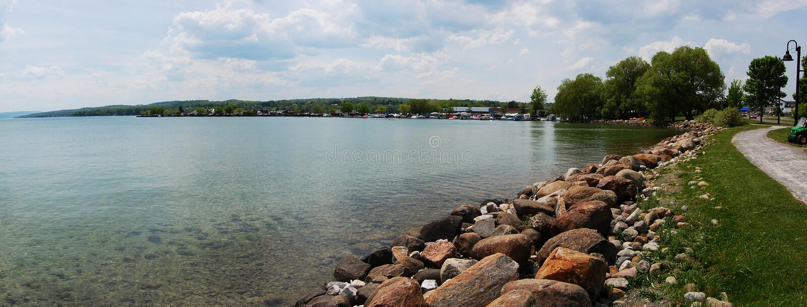 Download Lake Shore panorama stock image. Image of recreation - 19317693