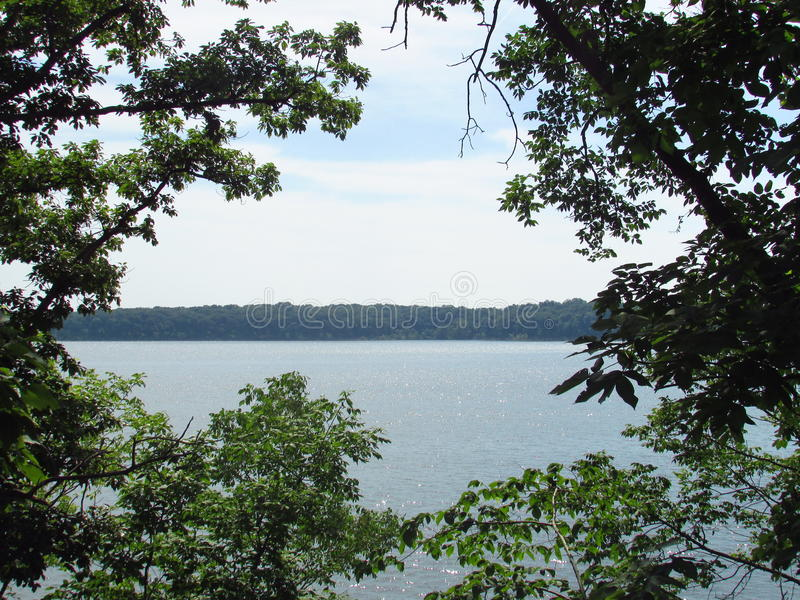 Lake side view in Missouri royalty free stock photos